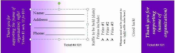 Printable Raffle Ticket Template Unique 40 Free Editable Raffle & Movie Ticket Templates