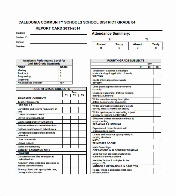 Printable Report Card Templates Awesome 27 Progress Report Card Templates Google Doc Pdf Psd