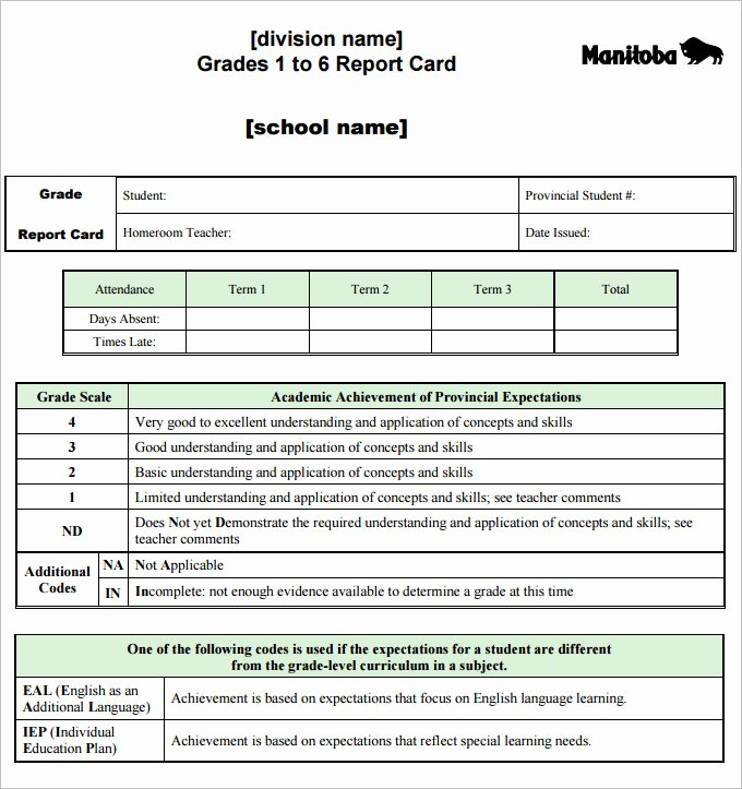Printable Report Card Templates Beautiful Report Card Template 28 Free Word Excel Pdf Documents