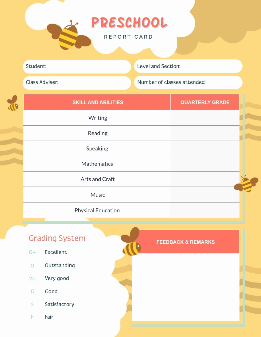 Printable Report Card Templates Best Of Report Card Templates