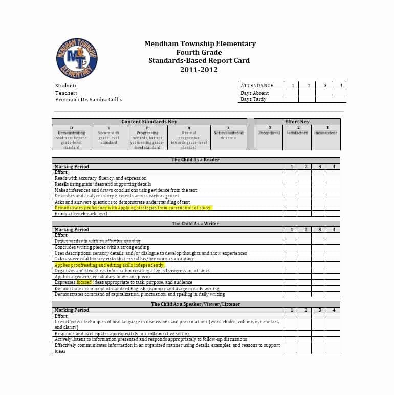 Printable Report Card Templates Elegant 30 Real & Fake Report Card Templates [homeschool High
