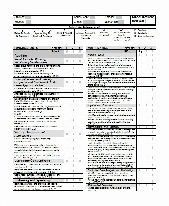 Printable Report Card Templates Lovely 21 Report Card Templates Doc Pdf Psd