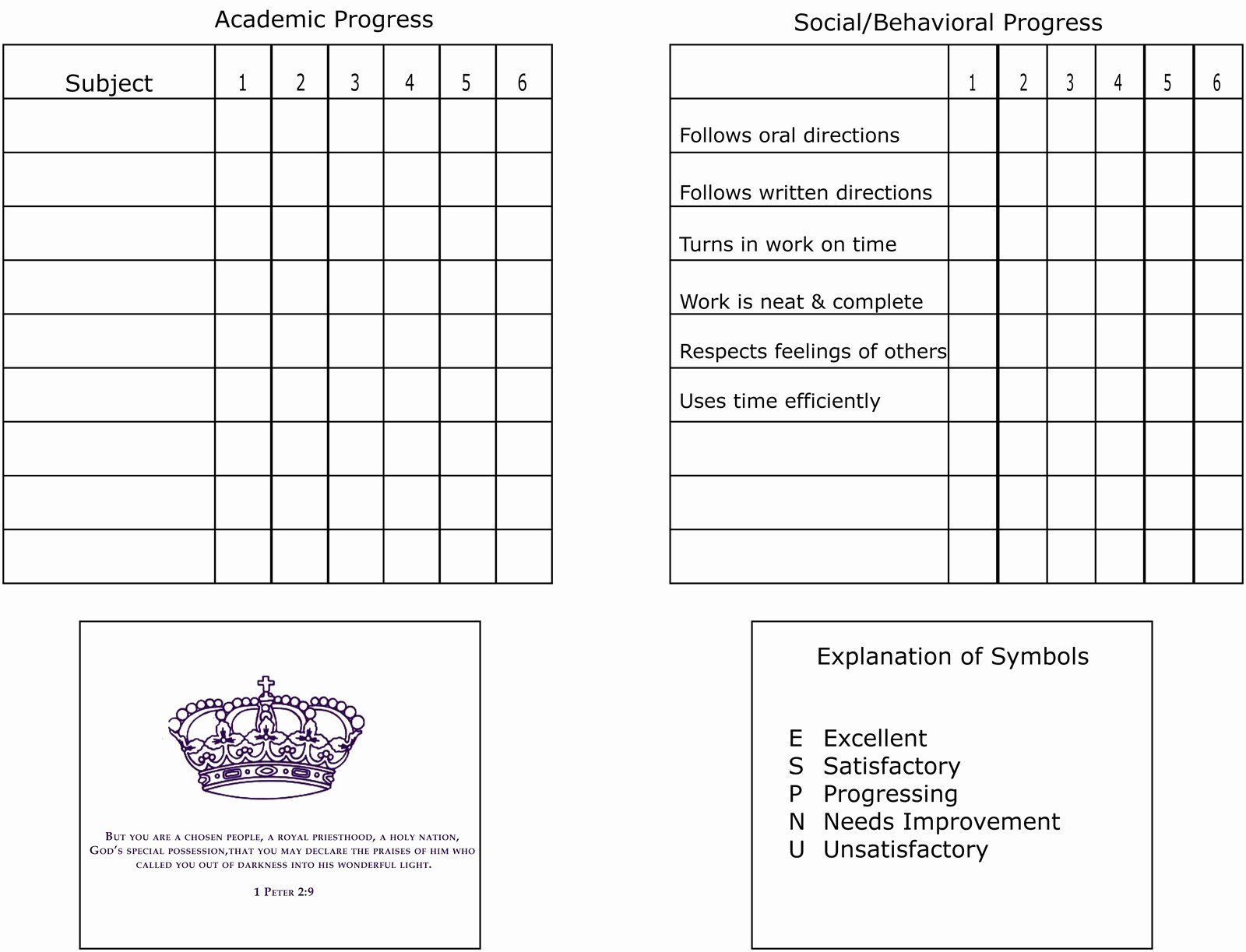 Printable Report Card Templates New Zoo Internships Homeschool Report Card