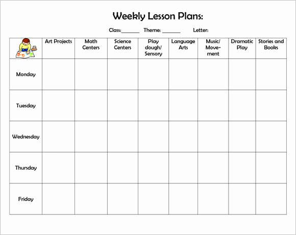Printable Weekly Lesson Plan Templates Elegant Sample Weekly Lesson Plan 8 Documents In Pdf Word