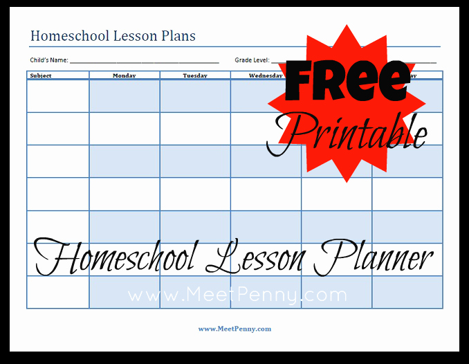 Printable Weekly Lesson Plan Templates Fresh Blueprints organizing Your Homeschool Lesson Plans Meet