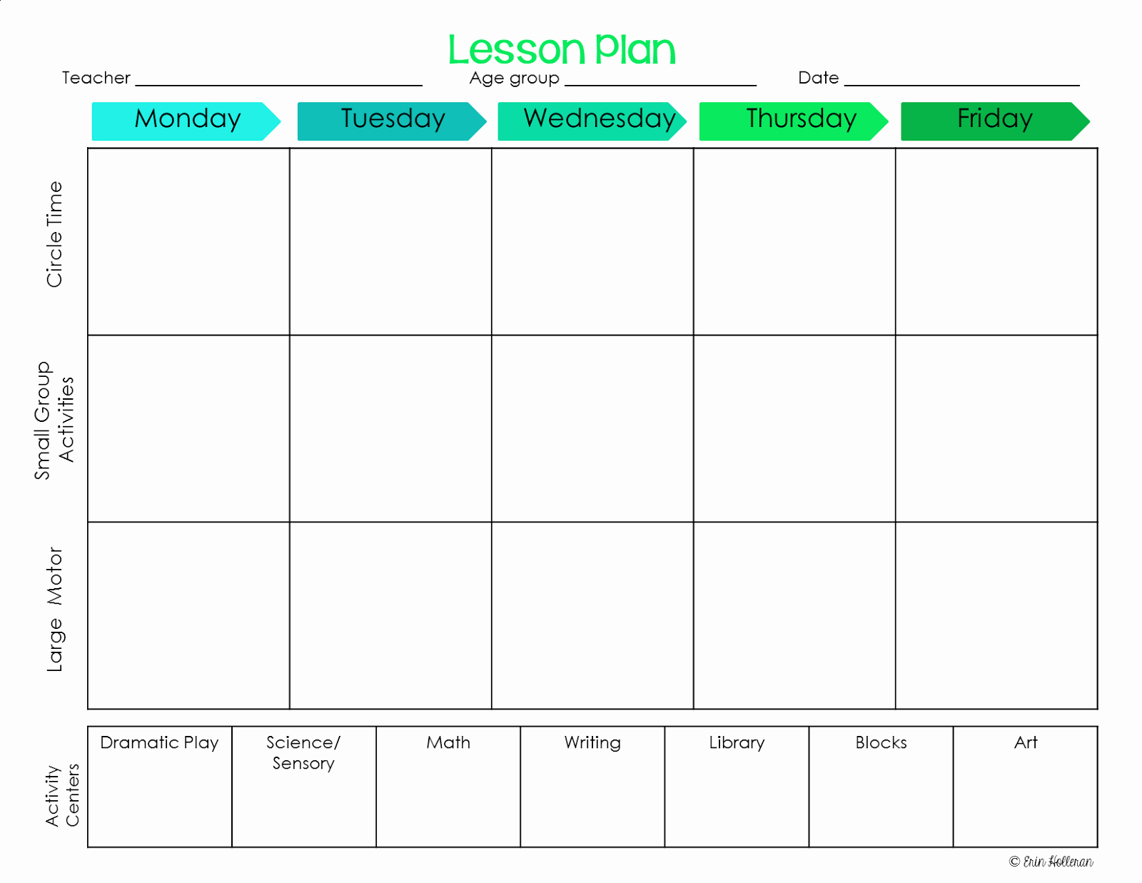 Printable Weekly Lesson Plan Templates Fresh Preschool Ponderings Make Your Lesson Plans Work for You