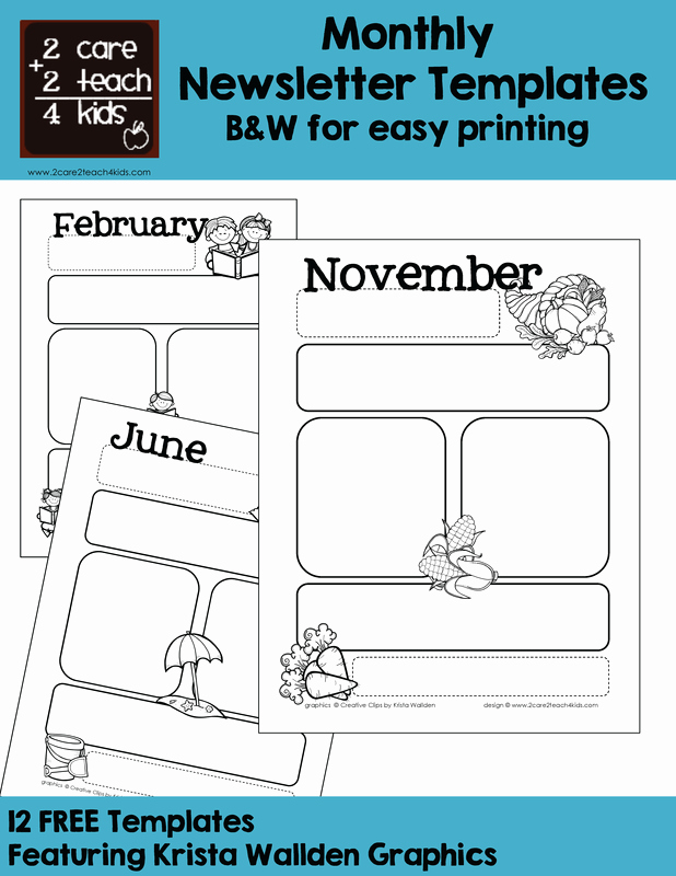 Printed Newsletter Templates Free Fresh Basic Newsletters Free Printable Templates