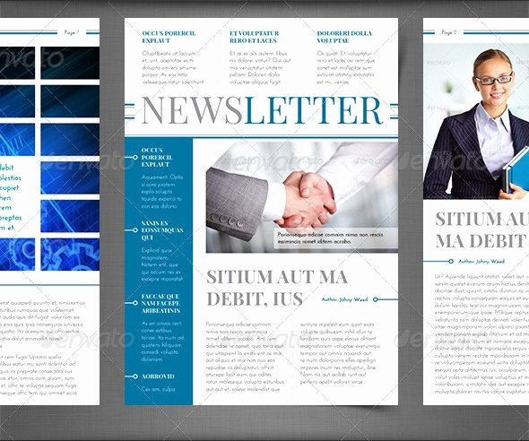 Printed Newsletter Templates Free Fresh Best Newsletter Design for Print 56pixels