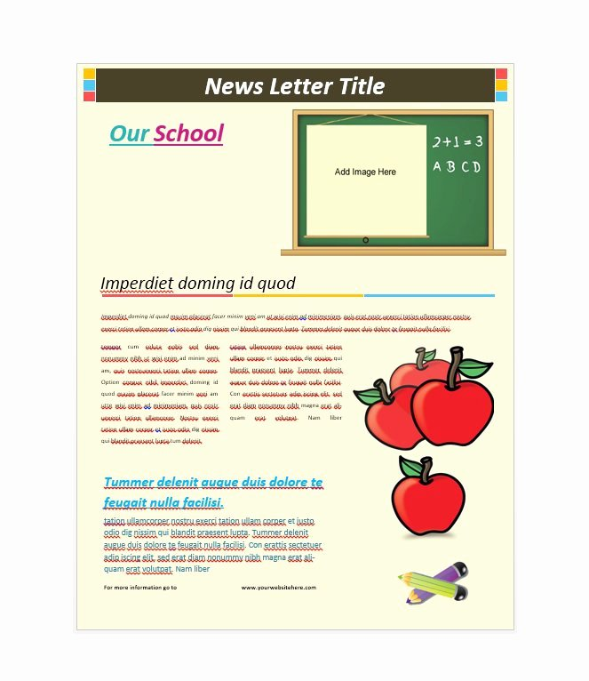 Printed Newsletter Templates Free Inspirational 50 Free Newsletter Templates for Work School and