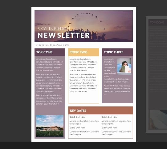 Printed Newsletter Templates Free Inspirational Pin On Nero