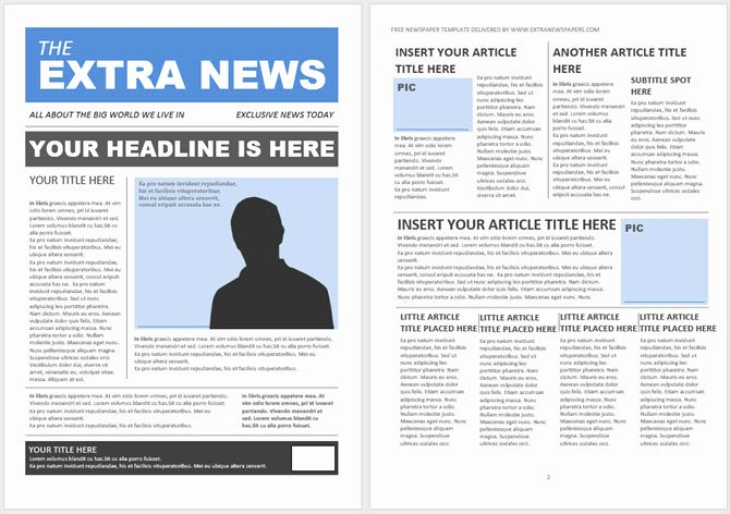 Printed Newsletter Templates Free Lovely 13 Free Newsletter Templates You Can Print or Email as Pdf