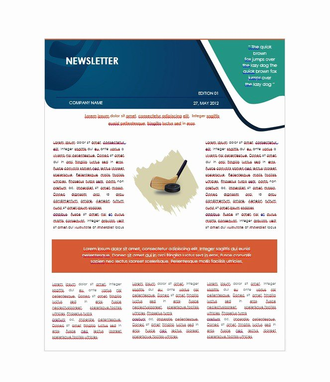 Printed Newsletter Templates Free Luxury 50 Free Newsletter Templates for Work School and Classroom