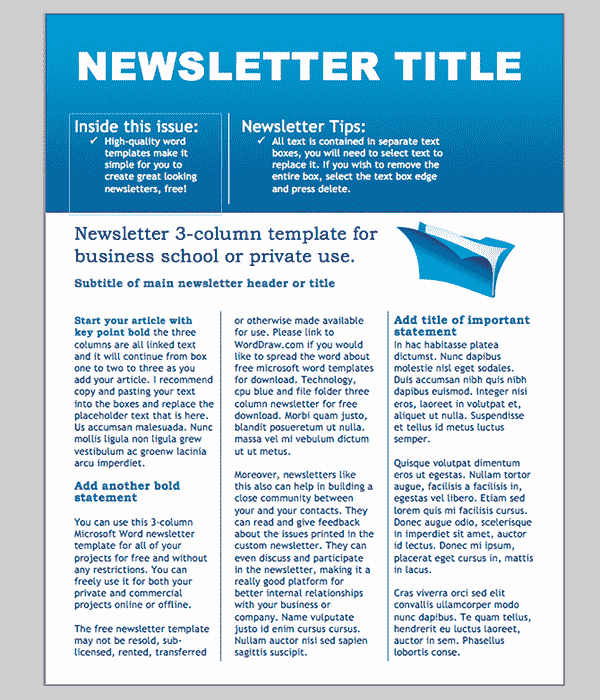 Printed Newsletter Templates Free Luxury Word Newsletter Template – 31 Free Printable Microsoft