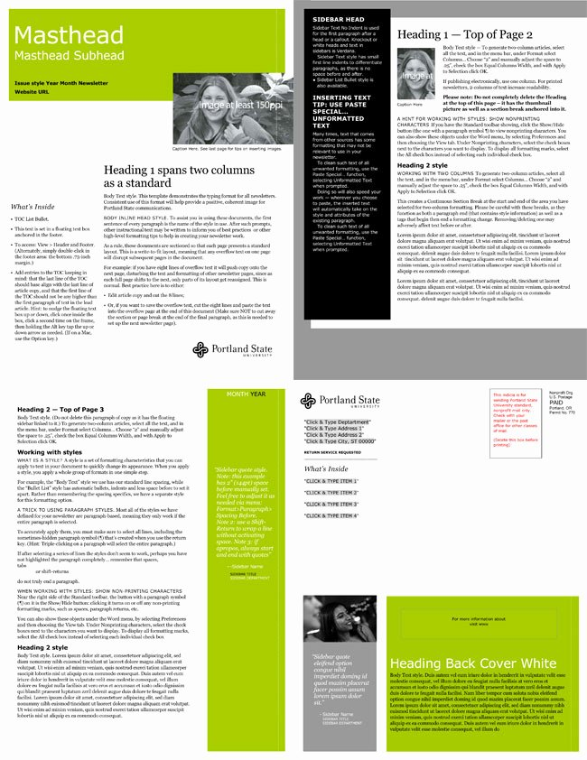 Printed Newsletter Templates Free New Free Email Newsletter Templates to Create E Newsletters