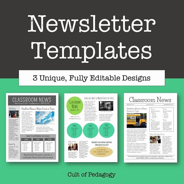 Printed Newsletter Templates Free New why No E Reads Your Classroom Newsletter