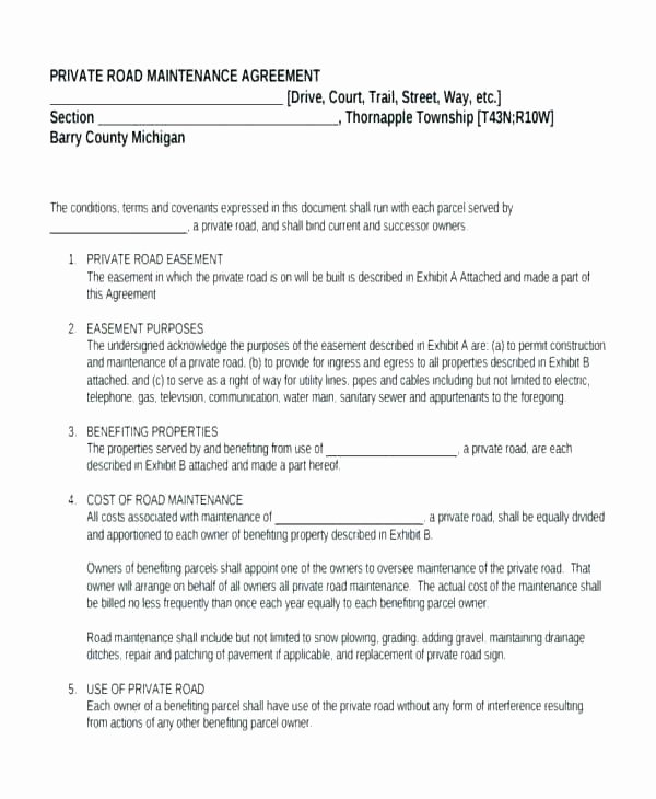Private Child Support Agreement Template Fresh Maintenance Agreement Template