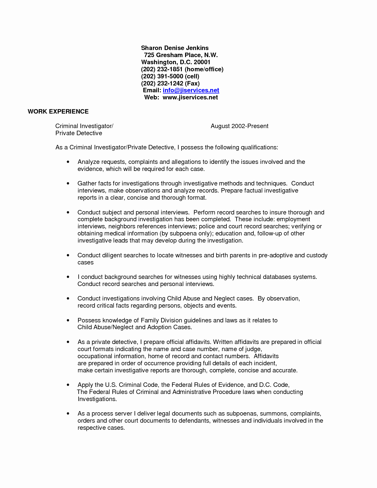 Private Investigator Report Templates Beautiful Inspirational Crime Scene Investigator Sample Resume
