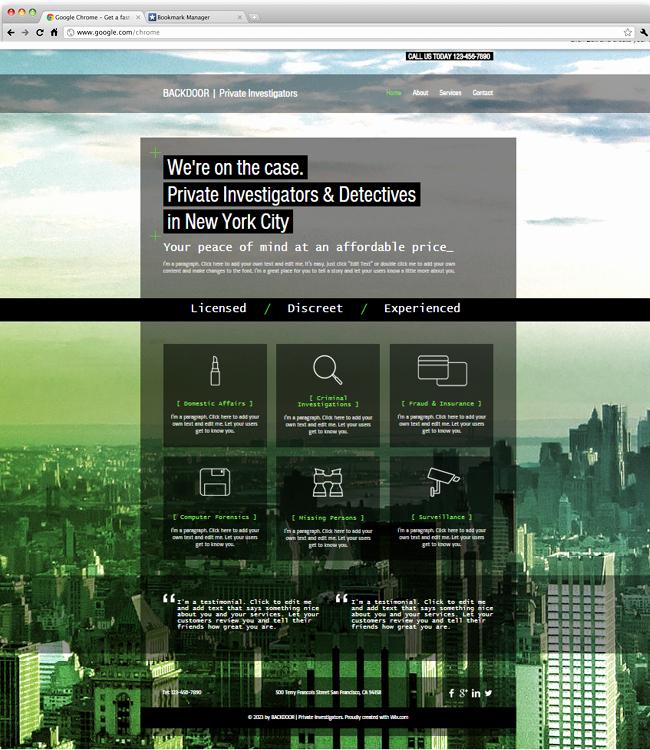 Private Investigator Report Templates Luxury Private Investigators Website Template