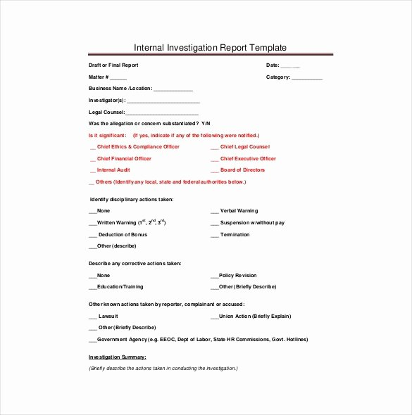 Private Investigator Report Templates Lovely Paranormal ...