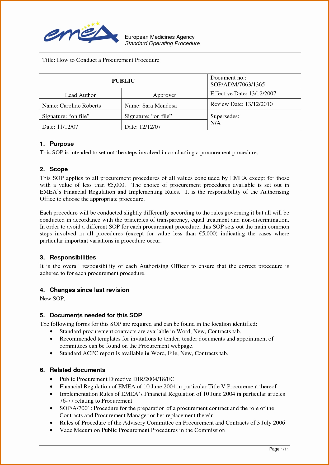 Procedure Manual Template Word Awesome 11 Standard Operating Procedure Template Word