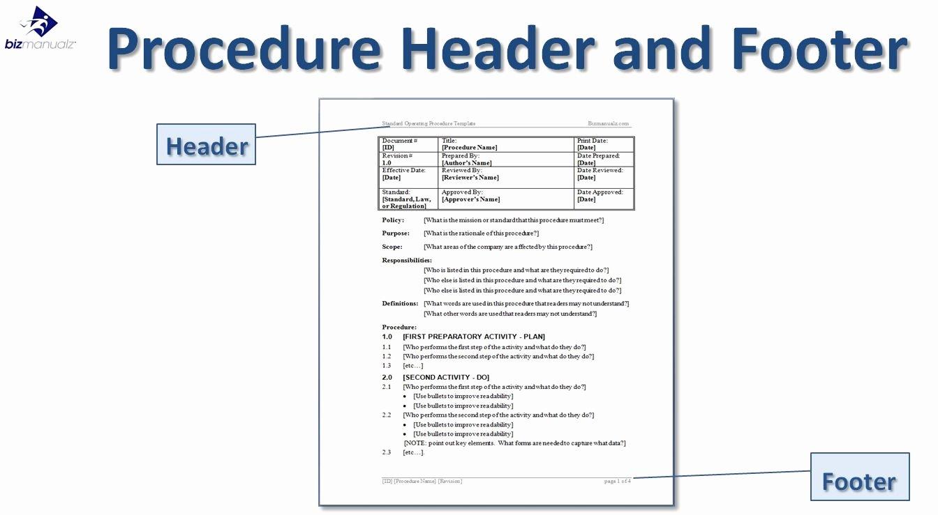 Procedure Manual Template Word Unique Writing Standard Operating Procedures Writing sop