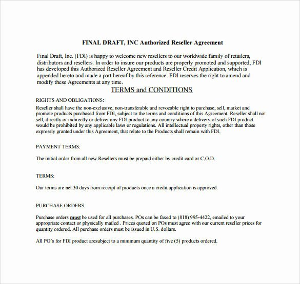 Product Licensing Agreement Template Unique Net 30 Terms Agreement Template