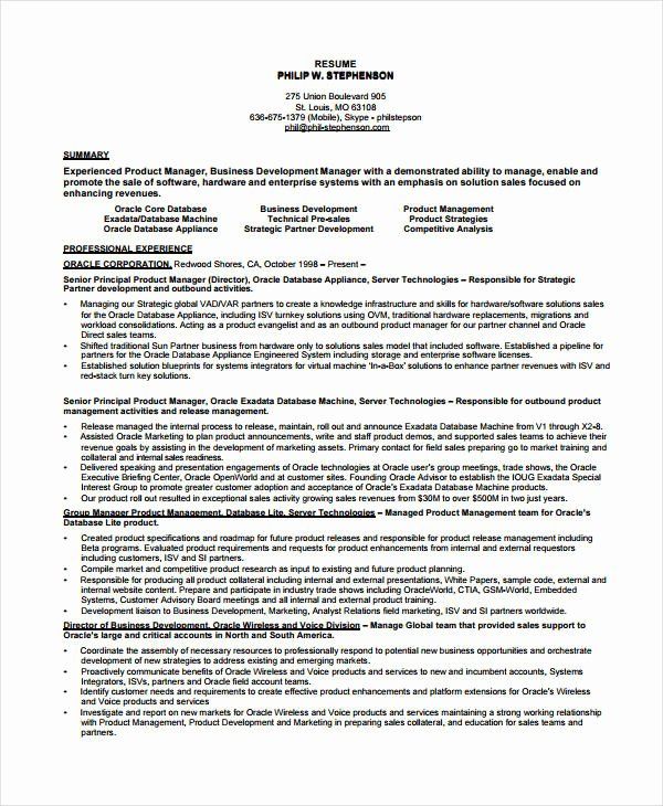 Product Manager Resume Template Best Of 10 Product Manager Resume Templates Pdf Doc