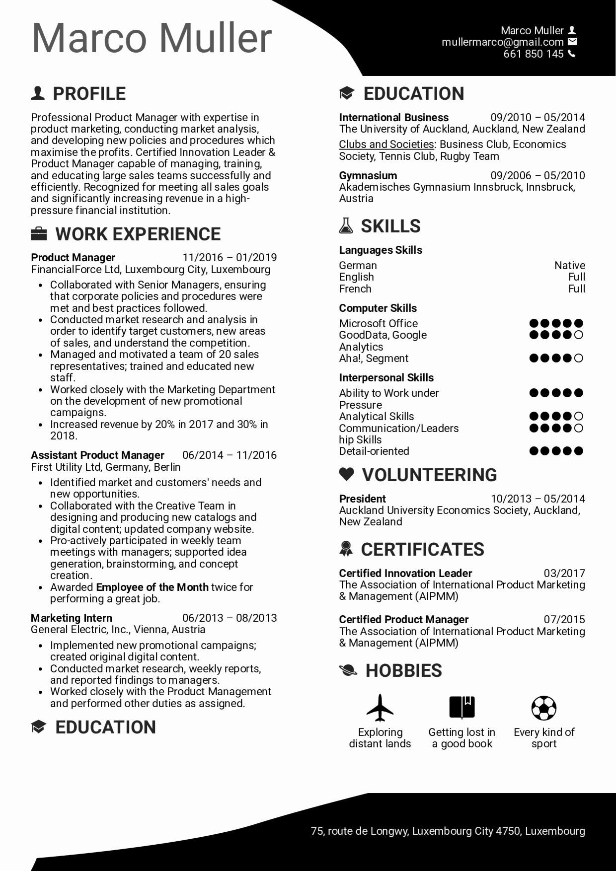 Product Manager Resume Template Best Of Resume Examples by Real People Product Manager Resume