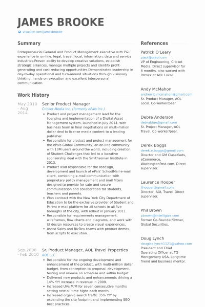 Product Manager Resume Template Inspirational Product Manager Resume Sample