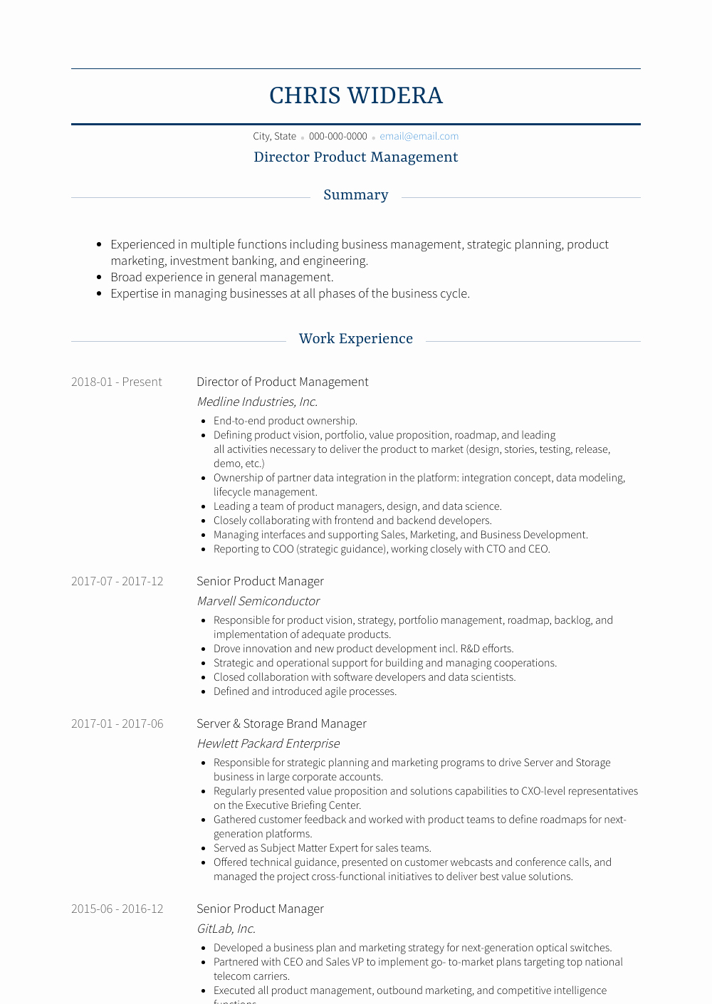 Product Manager Resume Template Inspirational Senior Product Manager Resume Samples & Templates