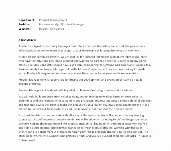 Product Manager Resume Template Lovely 9 Product Manager Resume Templates Pdf Doc