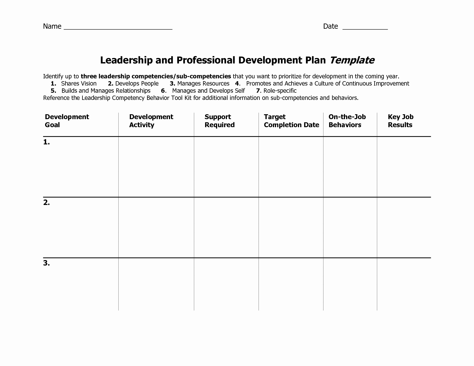 Professional Growth Plan Templates Awesome Individual Development Plan Template Word Google Search