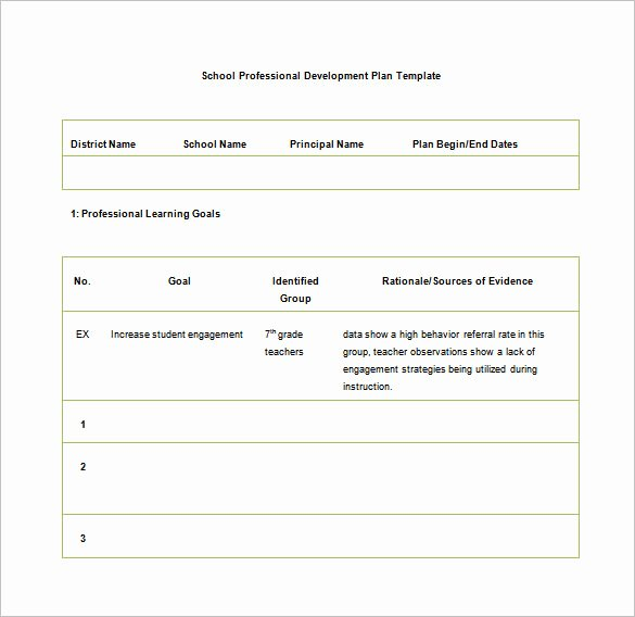 Professional Growth Plan Templates Lovely 26 Of Professional Development Plan Template