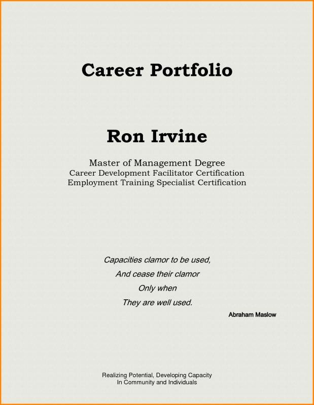 Professional Portfolio Cover Page Template Awesome Teaching Portfolio Template