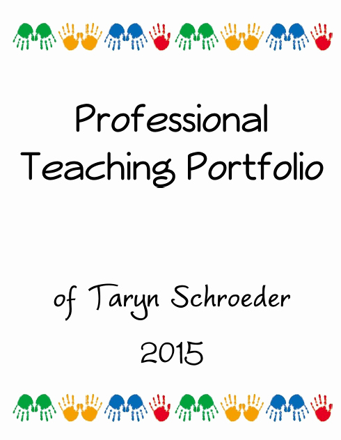 Professional Portfolio Cover Page Template Awesome Techy Teacher Portfolio Cover Page