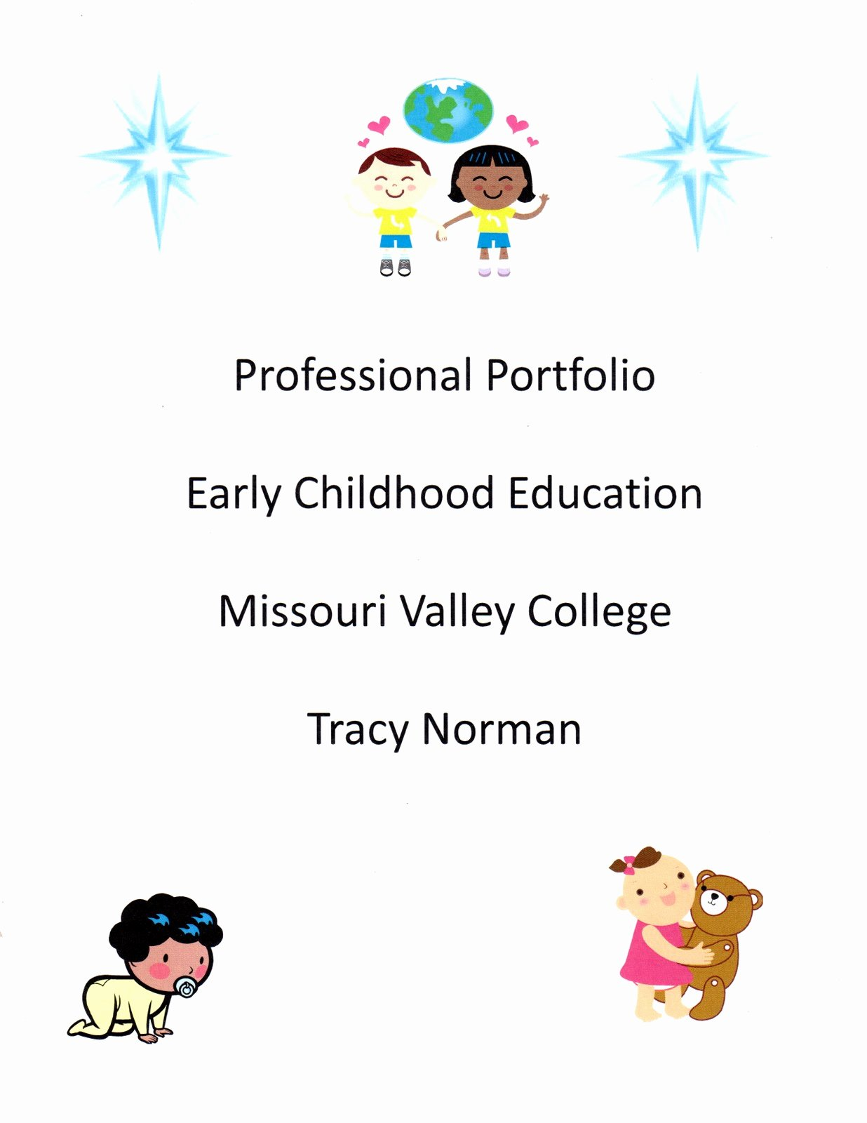 Professional Portfolio Cover Page Template Elegant 28 Of Early Childhood Education Professional
