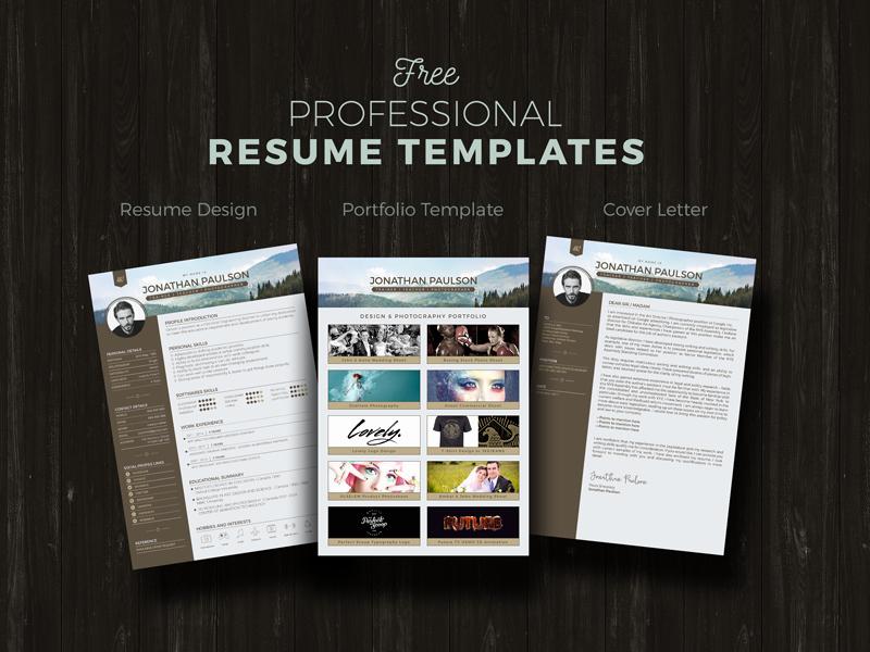 Professional Portfolio Cover Page Template Fresh Free Resume Cv Portfolio & Cover Letter Design Template