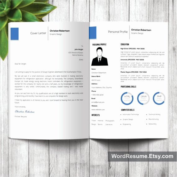 Professional Portfolio Cover Page Template Lovely 8 Page Exclusive Resume Template Including Cover by Wordresume