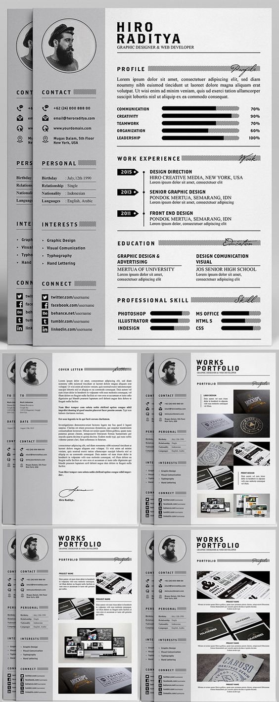 Professional Portfolio Cover Page Template Unique 3079 Best Images About Resume Cv