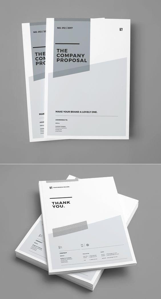 Professional Portfolio Cover Page Template Unique Proposal and Portfolio Templateminimal and Professional
