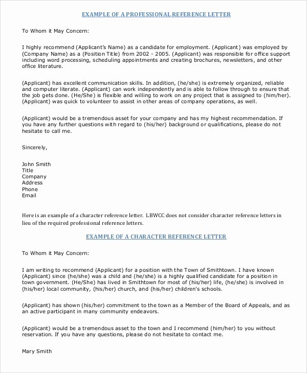 Professional Reference Letter Template Awesome Sample Professional Letter 6 Documents In Pdf Word