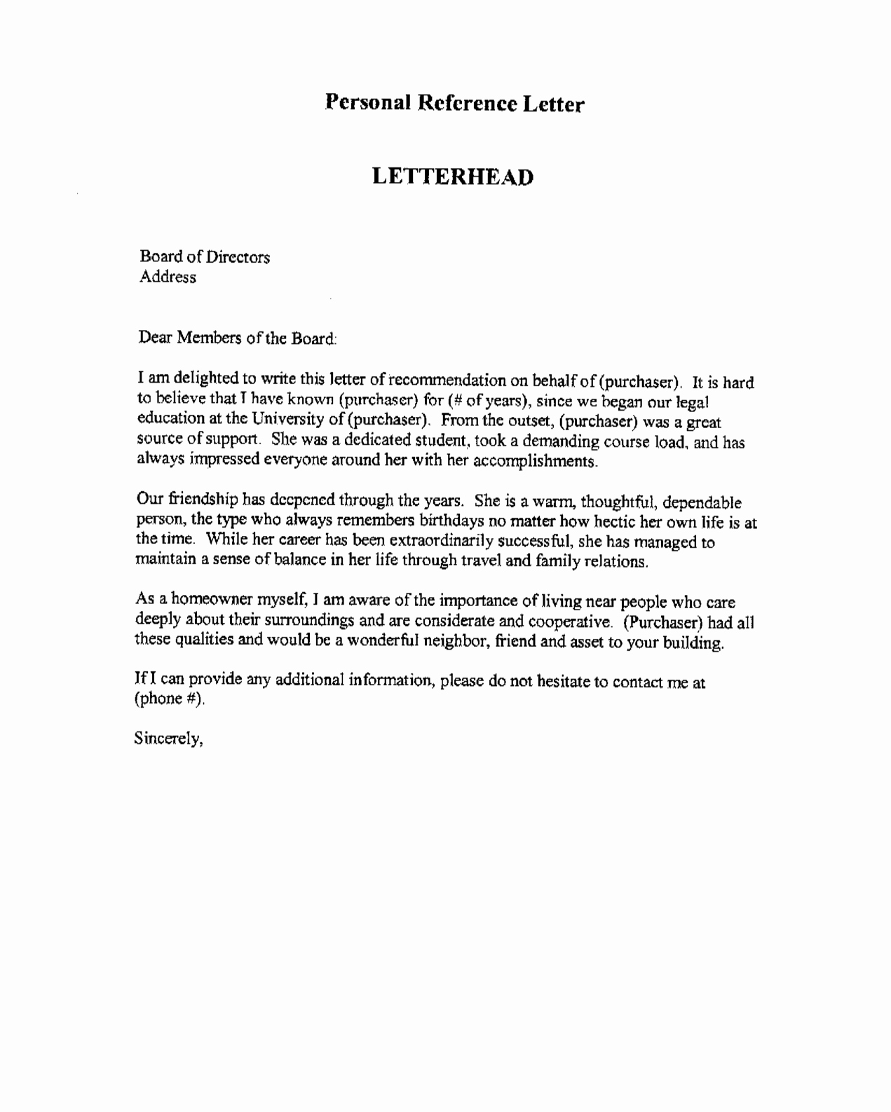 Professional Reference Letter Template Luxury Professional Re Mendation Letter This is An Example Of