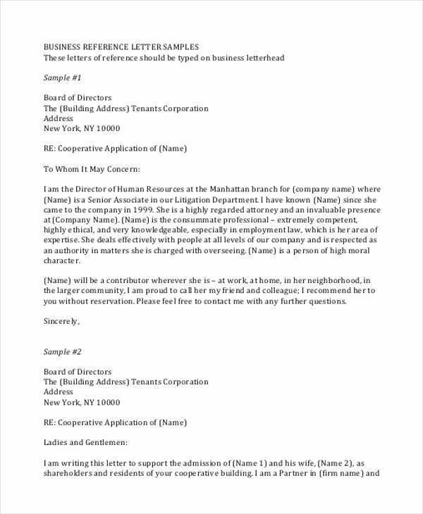 Professional Reference Letter Template Luxury Sample Professional Business Letter 7 Examples In Word Pdf