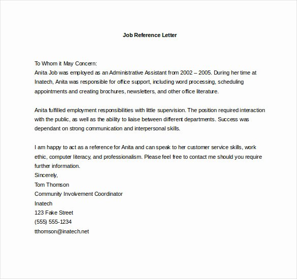 Professional Reference Letter Template Word Fresh 19 Reference Letter Templates Doc Pdf