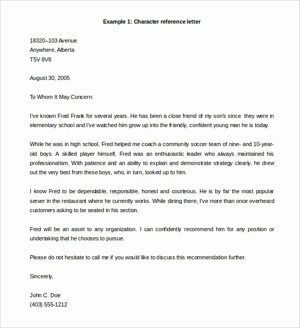 Professional Reference Letter Template Word Lovely 42 Reference Letter Templates Pdf Doc