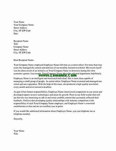 Professional Reference Letter Template Word Lovely Reference Letter Templates for Professional Employee for