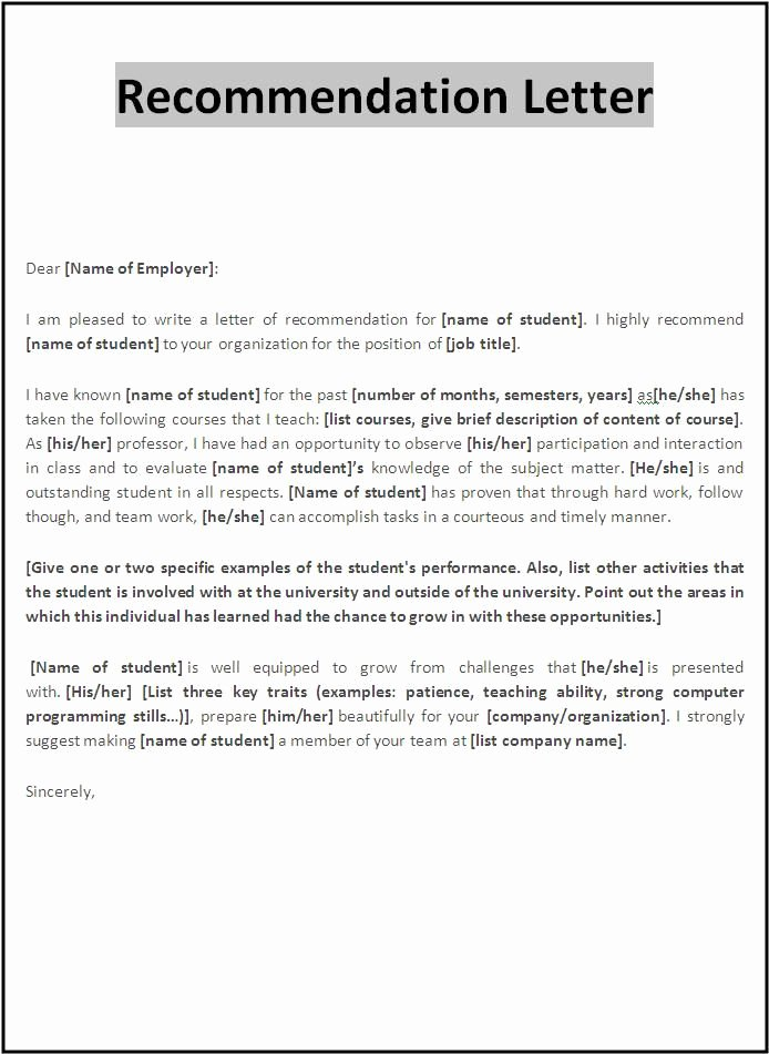 Professional Reference Letter Template Word Unique Examples Letter Re Mendation
