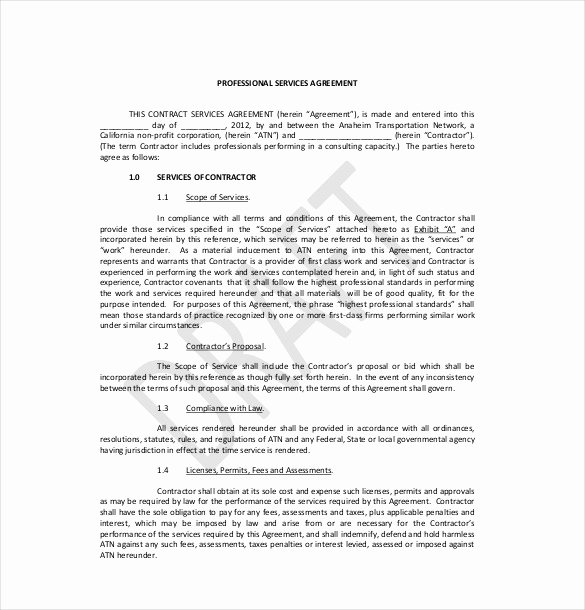 Professional Services Agreement Template Awesome 36 Service Agreement Templates Word Pdf