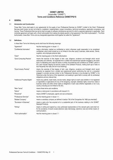 Professional Services Agreement Template Elegant 28 Professional Services Agreement Examples Pdf Word