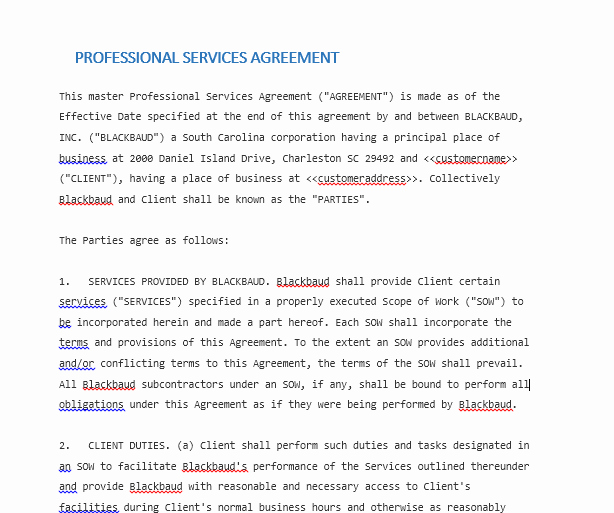 Professional Services Agreement Template Inspirational Professional Services Agreement Templates 24 Free